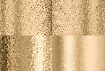 gold hammered effect background, four different solutions
