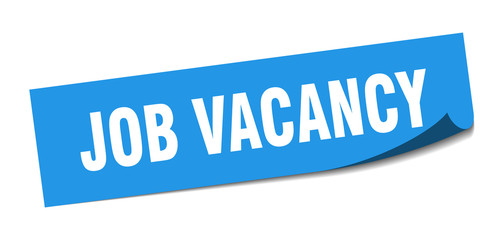 job vacancy sticker. job vacancy square sign. job vacancy. peeler