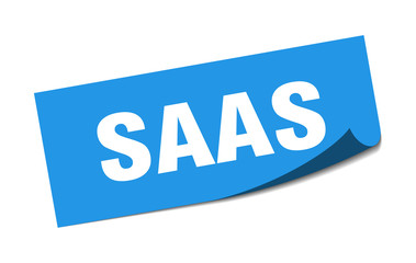 saas sticker. saas square sign. saas. peeler