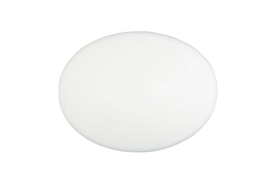 a white bar of soap isolated on a white background closeup top view