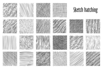 Sketch hatching abstract pattern backgrounds Fototapete