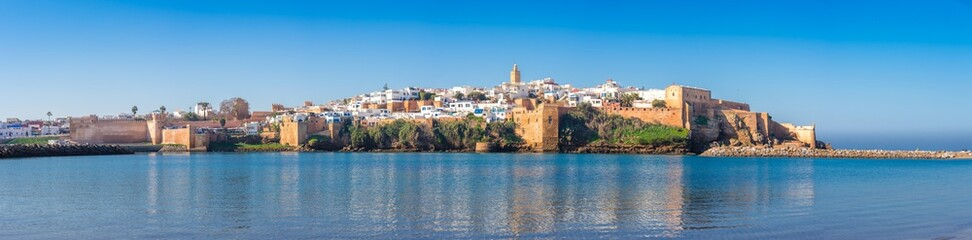 Kasbah of Udayas fortress in Rabat Morocco. Kasbah Udayas is ancient attraction of Rabat Morocco
