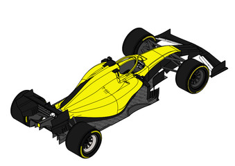 Photo sur Aluminium F1 Colored F1 Car Vector