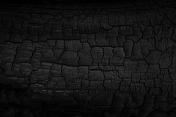 Poster de jardin Texture de bois de chauffage Wood charcoal texture. Burnt tree. Black coal background