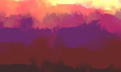 Door stickers Bordeaux Fantastic mist landscape with a few layers.