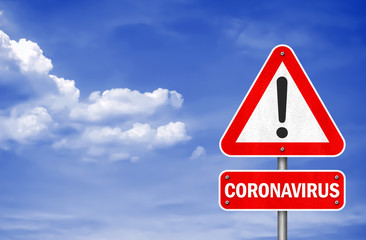 Coronavirus - road sign information message