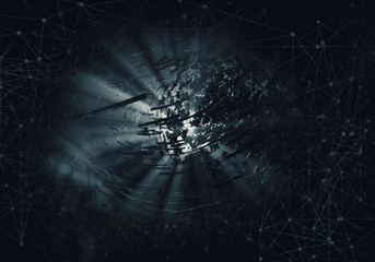 3D rendering of abstract technology concept background