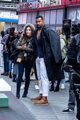 Isaiah Mustafa at a public appearance for Old Spice Actors Isaiah Mustafa Passes Torch to Keith Powers