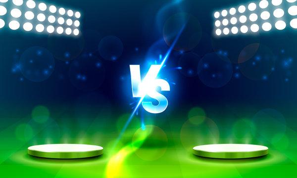 Versus game cover, banner sport vs, team concept.