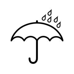 Obraz parasol ikona - fototapety do salonu