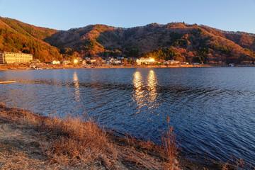 Lake scenery of Kawaguchiko, Japan