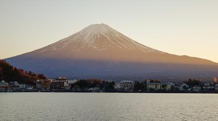 Sacred Mount Fuji with Lake Kawaguchiko