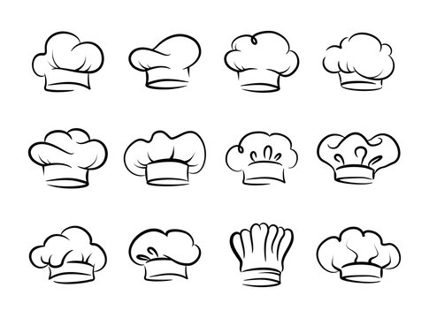 Chefs hat vector set, collection
