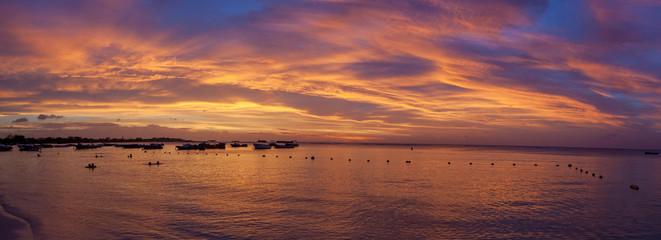 Foto op Aluminium Zee zonsondergang Mauritius