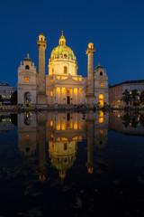 Wall Mural - St. Charles's Church in Vienna, Austria