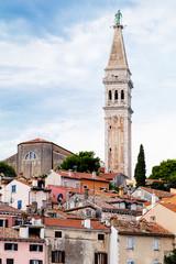 Wall Mural - seaside view of old town of Rovinj, Croatia.