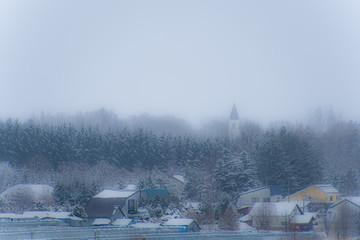 Garden Poster とんがりのある冬の風景