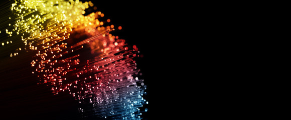 Fiber optics network abstract background