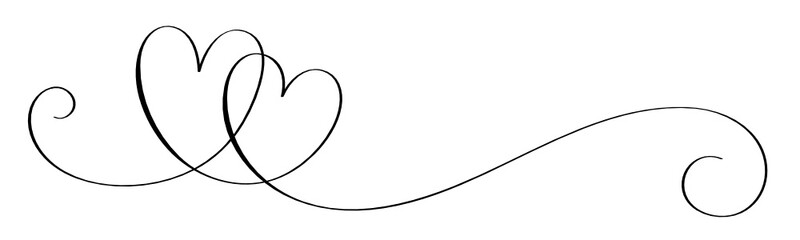 Hand-Drawn Black Vector Interlocking Hearts With Copy Space