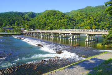 Togetsukyo Bridge, Arashiyama, Kyoto Pref., Japan