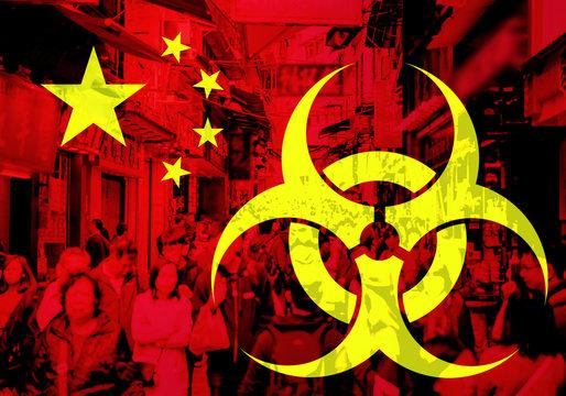 Epidemic virus outbreak in China. Illustration