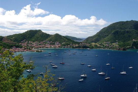 Beautiful bay on Caribbean Island The Saints