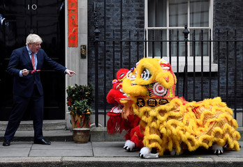 British Prime Minister Boris Johnson attends celebrations for Chinese Lunar New Year at Downing Street in London