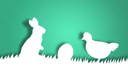 bunny rabbit easter colorful cartoon comic eggs