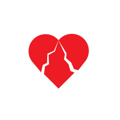 The vector picture of the broken heart.