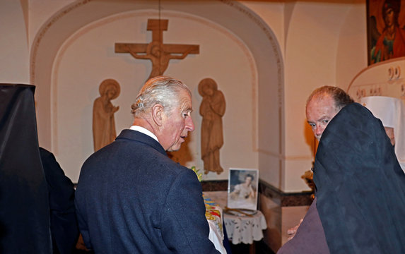 Britain's Prince Charles visits Russian Orthodox Church of Mary Magdalene on the Mount of Olives in Jerusalem