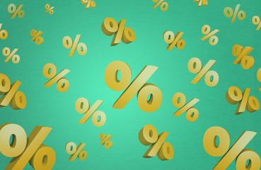 discount sale percent 3d illustration sparkle background