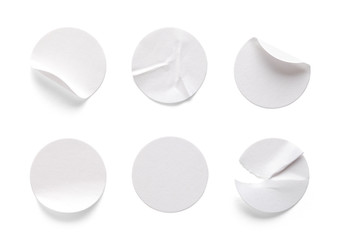 Round White Labels Fotomurales