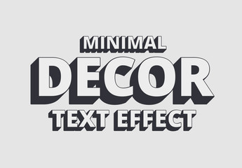 Minimal Decor Shadow Text Effect Mockup