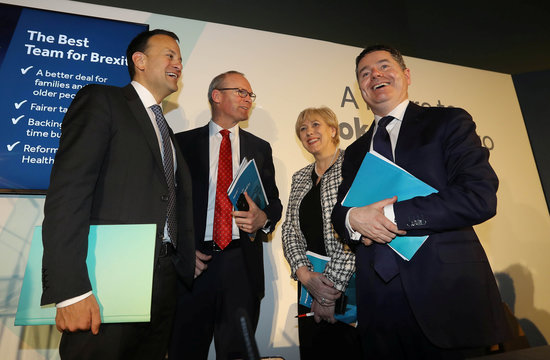 Taoiseach Varadkar attends launch of his party's manifesto for Irish General Election in Dublin
