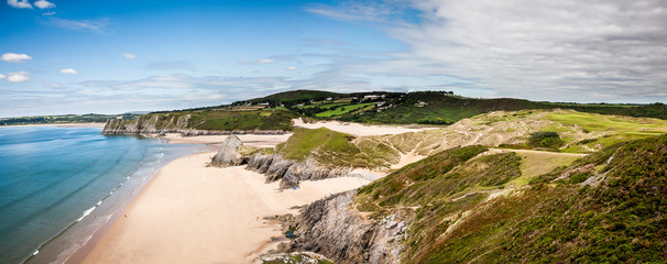United Kingdom, Wales, Gower Peninsula, Three Cliffs Bay, Area of Outstanding Natural Beauty