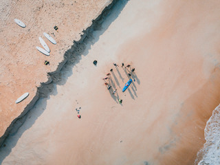 High Angle View Of People Enjoying At Beach