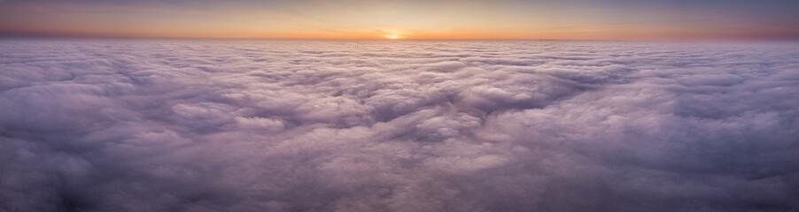 Poster Lavende Nebel von oben