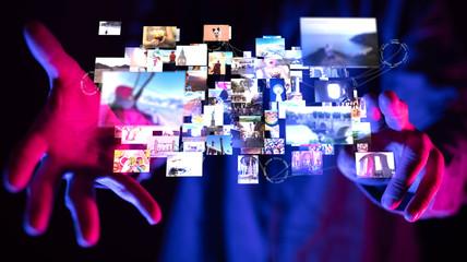 Internet broadband and multimedia streaming entertainment