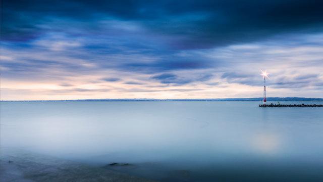 SCENIC VIEW OF lake balaton