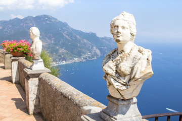 Statues in Villa Cimbrone, Ravello, Amalfi Coast, Italy