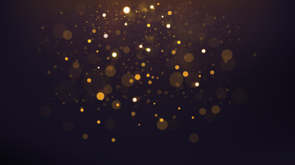 Abstract Gold Bokeh Scattered, Widescreen Version