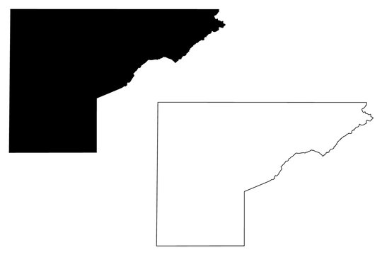 Mesa County, Colorado (U.S. county, United States of America,USA, U.S., US) map vector illustration, scribble sketch Mesa map