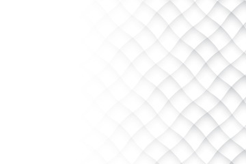 Abstract geometric white and gray color background. Vector, illustration. Wall mural