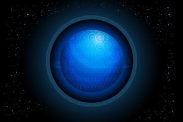 Globe earth planet vector image