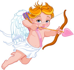 Foto op Textielframe Sprookjeswereld Cupid Shooting