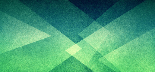 Wall Mural - Abstract geometric background in green with texture, layers of triangle shapes in modern art style background design