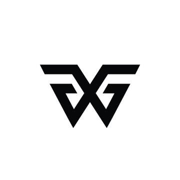 initial WG logo abstrac icon vector