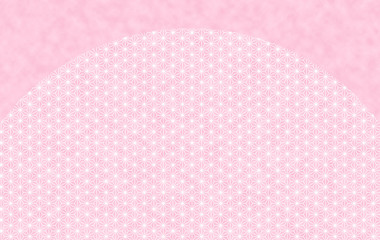 背景:和 和風 和柄 ひなまつり 桃の節句 麻の葉 桃 ピンク 卒業 入学 三月 四月
