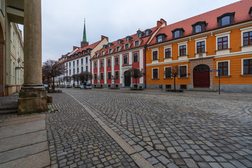Wall Murals Nice Streets and Architecture of the city of Wroclaw, the historic capital of Lower Silesia.