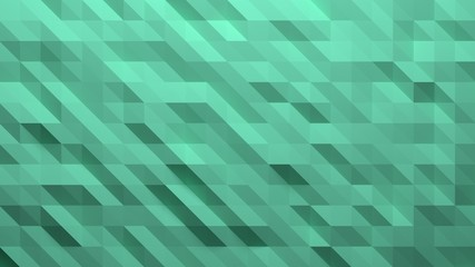 Fototapeta Aqua menthe, menthol vector modern geometrical abstract background. Geometric background in Origami style with gradient. 3D-rendering obraz